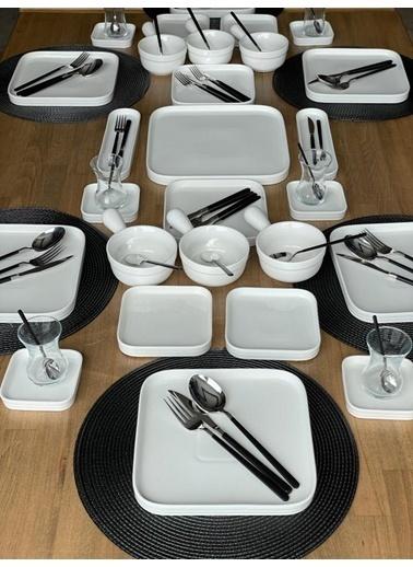 ROSSEV Kahvaltı Takımı Pure 81 Parça 6 Kişilik Renkli